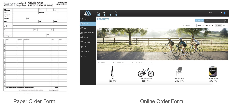 Online vs Paper Order Form