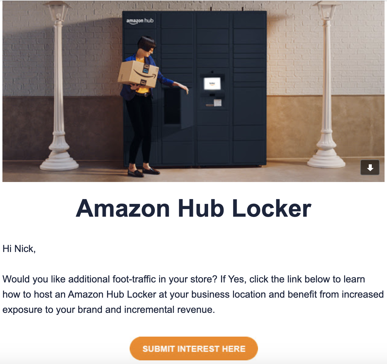 Amazon Hub Locker Promotion